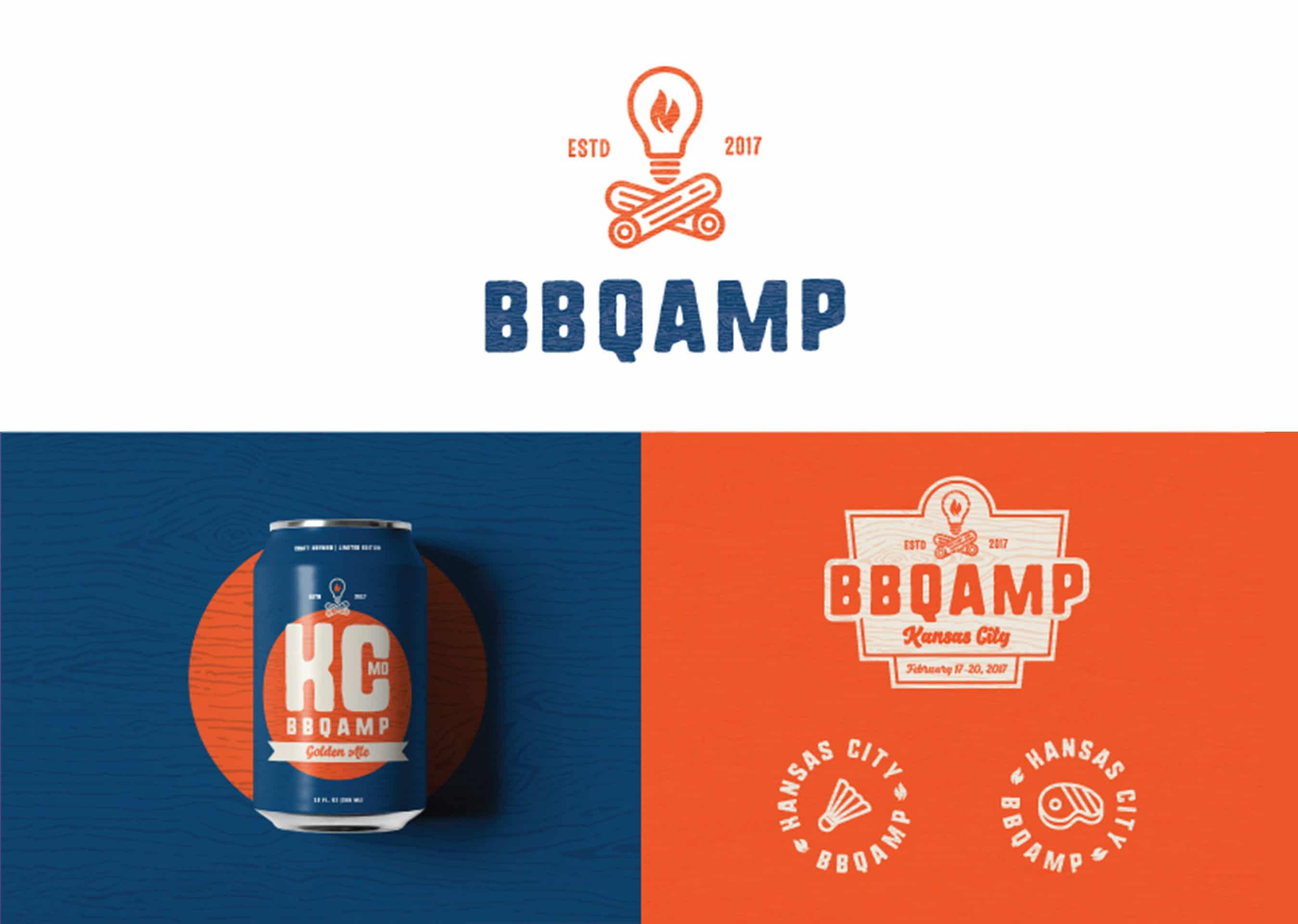 Bbqamp Logo Beer Can Design Cretivesfeed Inspiration